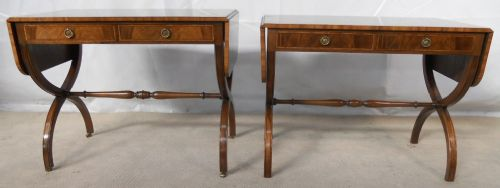 Pair Regency Style Mahogany Sofa Tables by Tibbenham